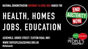 National Peoples Assembly March London 16th April