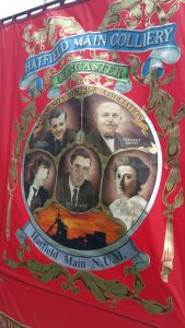 Hatfield Main NUM banner. That's Rosa Luxembourg bottom right