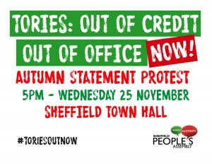 Protest rally 25th Nov re Osborne's Autumn Statement